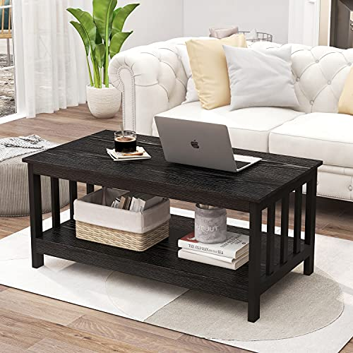 ChooChoo Black Wood Coffee Table