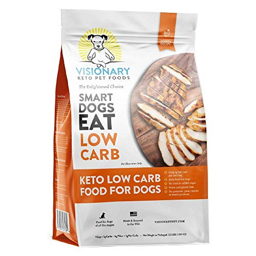 Visionary Pet -Keto Dog Food | Low Carb Kibble | High Protein | Natural Chicken Flavor | Grain Free Dry Dog Food | Natural Formula for Lifelong Health & Happiness
