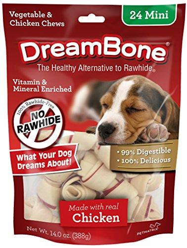 DreamBone Mini Bones, Dog Chews with Real Chicken