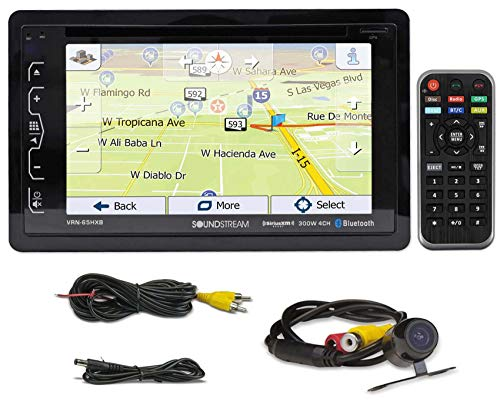 "SOUNDSTREAM VRN-65HXB 6.2"" Car Navigation GPS Bluetooth DVD/CD Receiver+Camera"