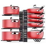 Baodan Organizador de ollas, 8 pisos, organizador de ollas y sartenes, soporte ajustable para tapa de ollas con 3 métodos de bricolaje