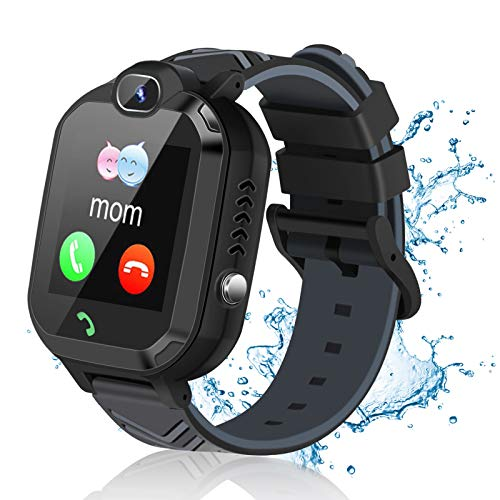 Kids Smart Watch for Boys Girls, Smart Watch for Kids with Call SOS Alarm Clock Games Camera Waterproof Kids Smart Watches, LBS Tracker Touch Screen Kids Smartwatch for Christmas Birthday Gifts