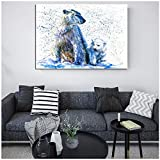 Tbdiberc Aquarell Eisbär Poster Tier Bild Leinwand Kunst