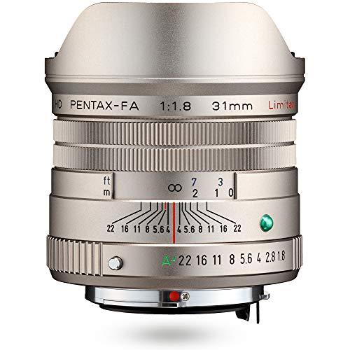 HD PENTAX-FA 31mmF1.8 Limited Silver Limited Lens Obiettivo grandangolare primario, rivestimento HD ad alte prestazioni, rivestimento SP, diaframma rotondo, corpo in alluminio lavorato