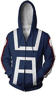 GK-O Anime My Hero Academia Training Suit Hoodie Cosplay Costume
