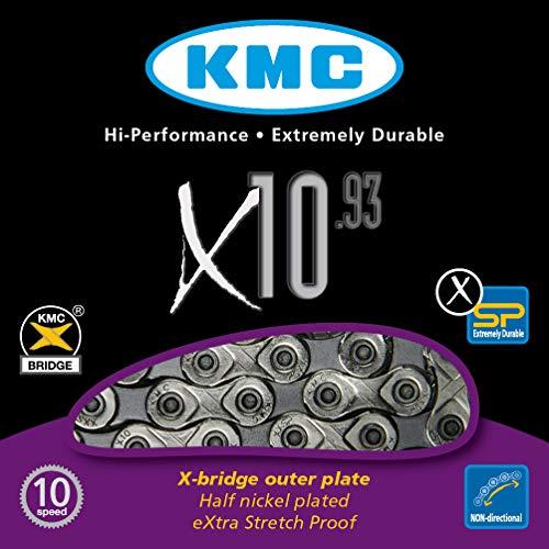 Fahrradkette KMC X 10 – 93, silber/ grau - 2