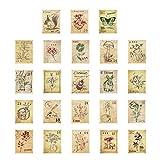 Healifty 3 scatole francobolli Adesivi Journal Forest Post Office Sticker Etichetta Fai da...