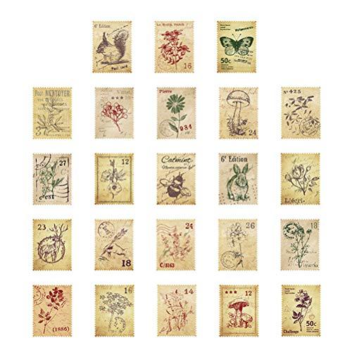 Healifty 3 scatole francobolli Adesivi Journal Forest Post Office Sticker Etichetta Fai da Te