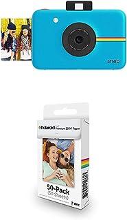 Polaroid Snap - Cámara Digital instantánea Azul + Paquete de 50 Hojas