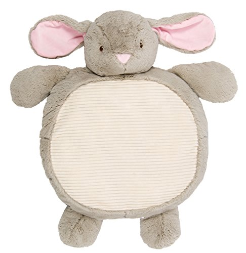 Supersoft and Cuddly Plush Grey Bunny KellyBaby Baby Play Mat 35in