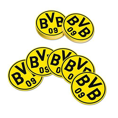 Borussia Dortmund BVB Bierdeckel, Pappe, Schwarz/gelb, cm, 5 x 5 x 2 cm, 50 Einheiten