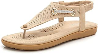 Summer Slippers Shoes Woman Summer Flat Beach Sandals Lightweight Beach Pool Indoor Outdoor (Color : Apricot, Size : 40)