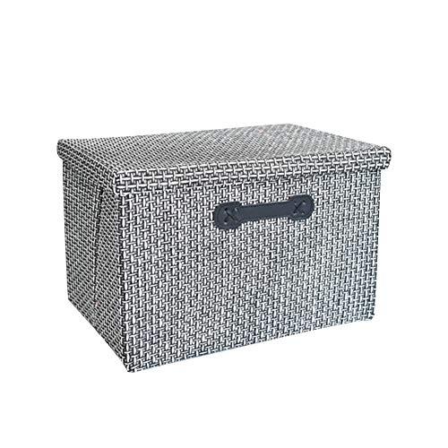 Lagerkorb Kasten-Aufbewahrungskorb mit Deckel, 2 Stück, geeignet for Decken, Bettzeug, faltbar (Color : B)