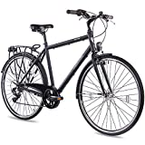CHRISSON 28 Zoll Citybike Herren - City One schwarz matt