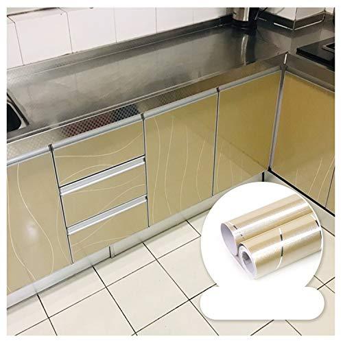 TINGCHAO - Papel Pintado Autoadhesivo extraíble para despegar y Pegar, para Cocina, Armario, encimera, Armario, Zapatero, Muebles, decoración (23,6x197 Pulgadas),A