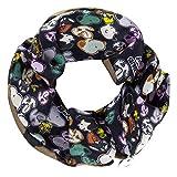 Codello Lifestyle Accessories Coletero unisex 100% seda para mujer Codello Scrunchie   Peanuts   Snoopy   negro, 11 cm