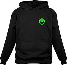 TeeStars - Neon Green Alien Head - I Believe Alien Face Print UFO Hoodie
