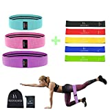 Exercise Resistance Loop Workout Band - Hip Elastic Booty Bands Set for Legs and Arms, Heavy Butt Bands for Training Pilates Stretching Physical Therapy Yoga Home Fitness P90x Crossfit