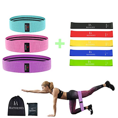 Exercise Resistance Loop Workout Band  Hip Elastic Booty Bands Set for Legs and Arms Heavy Butt Bands for Training Pilates Stretching Physical Therapy Yoga Home Fitness P90x Crossfit
