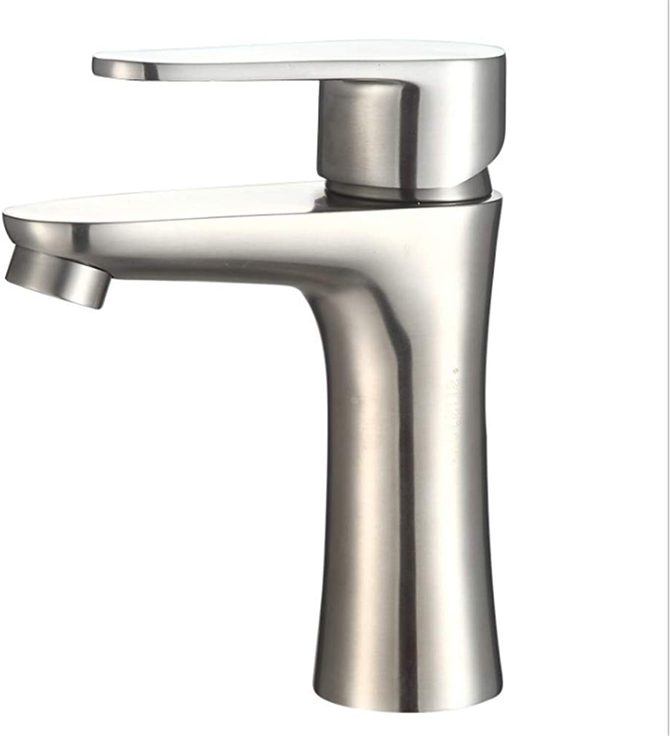 Kitchen Taps Faucet Modern Kitchen Sink Taps Stainless Steelfacebasin Washbasin Faucet Single-Hole Cold-Hot Water Mixing Valve