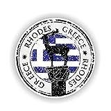 11.8Cm * 11.8Cm Persönlichkeit Griechenland Rhodos Autoaufkleber Aufkleber Lustiger Pvc Aufkleber