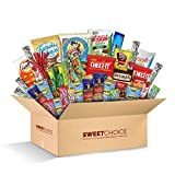Sweet Choice (40 Count) Ultimate Sampler Mixed Bars, Cookies, Chips, Candy Snacks Box for Office,...