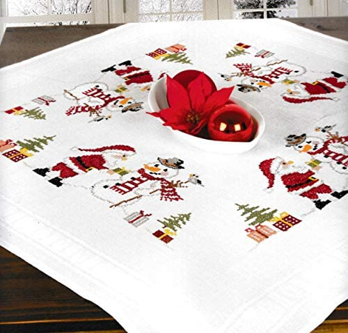 Printed Embroidery Cross Stitch Kit for Tablecloth Santa 6934 product image