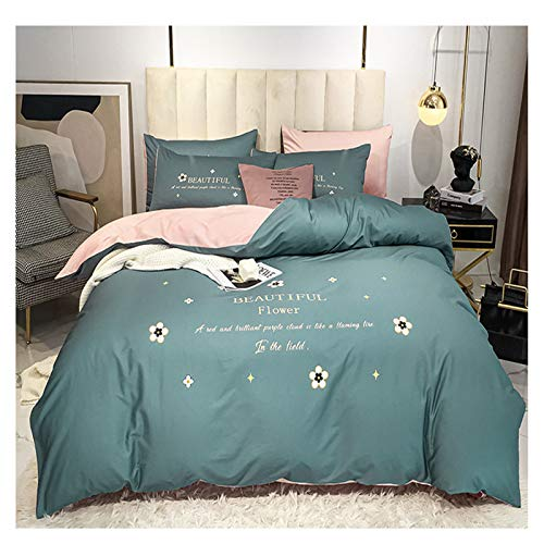 XiXiShangMao Osaka Home Four-Piece Four-Piece Full Cotton Quilt Cover, Bed Linen And Four-Piece Set 1.5x2 Meters Bed Sheet Type