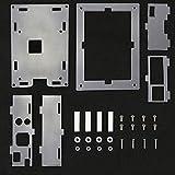 Ashley GAO Para frambuesa Pi 4 modesl B acrílico caso transparente Shell para 3.5 'HDMI-compatible pantalla táctil recinto