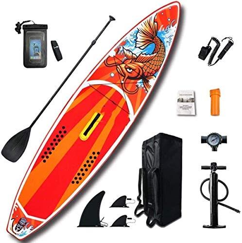 LXDDP Stand Up Paddle Board Aufblasbares Sup Board Set Kajak Komplettset Enthält Luftpumpenpaddel Komplettes Zubehör für Jugendliche und Erwachsene 150 kg Tragfähigkeit