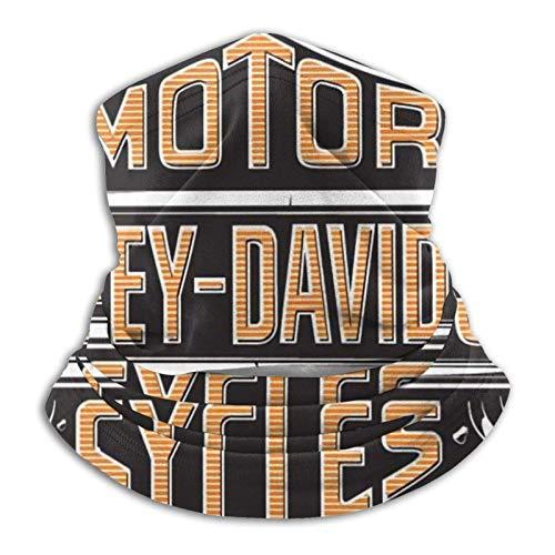 MoBetter Harley Davidson Sombreros multifuncionales Corbatas elásticas para Exteriores Protección UV Transpirable Calentador Facial Pulsera para Todo el año Negro