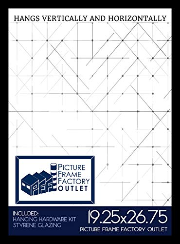 19.25x26.75 Puzzle | Picture | Poster Frame - 1.25 Black MDF Frame - Plexiglass - Hanging Hardware included