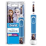 Oral-B Stages Power Kids Electric Rechargeable Toothbrush with Disney Frozen Characters, 1 Handle, 1 Brush Head, UK 2 Pin Plug for Ages 3+, Stocking Filler for Kids