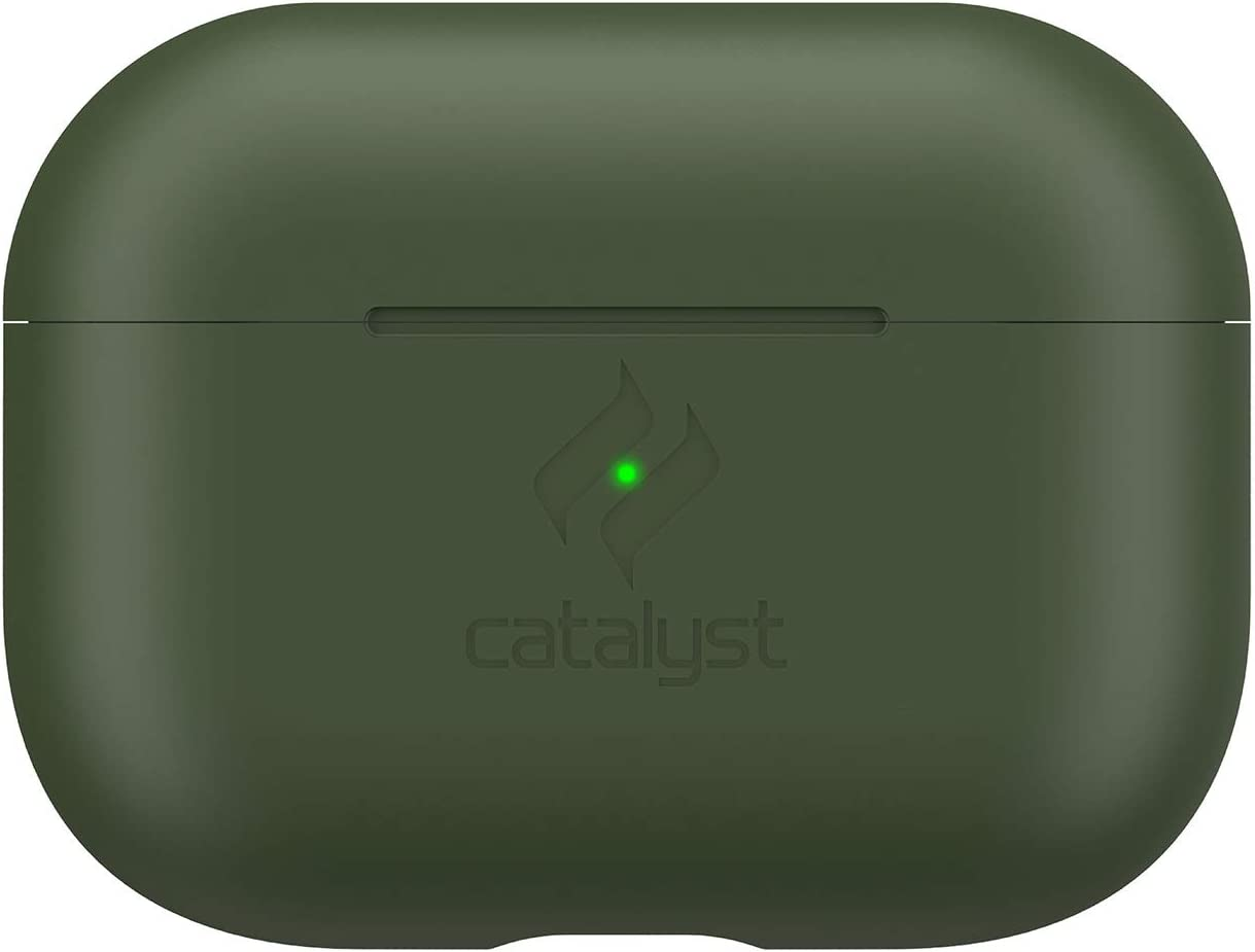 Slim Case for AirPods Pro by Catalyst - Skin for Apple AirPods Pro Charging Case, Interchangeable Colors, Protective Cover Soft Skin, Compatible Wireless Charging - Army Green