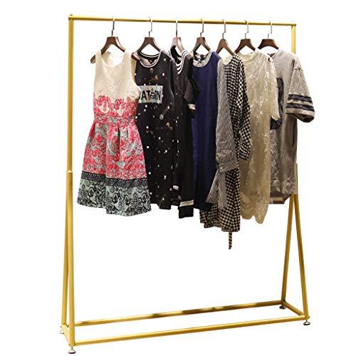 DGDG Goldene Kleidung-Kleid-Display Rack, freistehend Organizer Wäscheständer for Haushalt, Gewerbe, Bügeleisen Fertig (Size : 100 * 40 * 160cm)