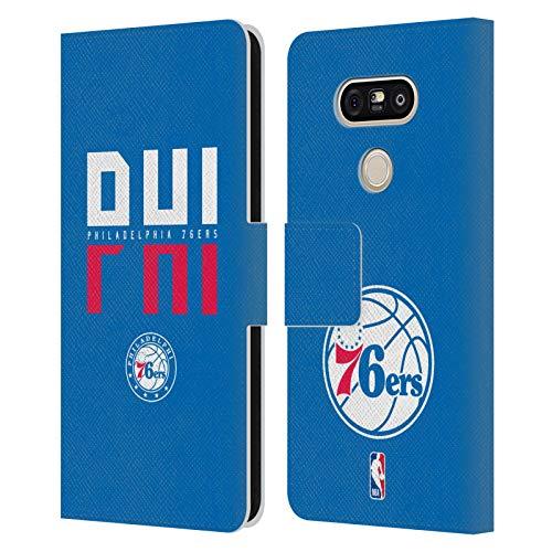 Head Case Designs Ufficiale NBA Tipografia 2019/20 Philadelphia 76ers Cover in Pelle a Portafoglio Compatibile con LG G5 SE / G5 Lite