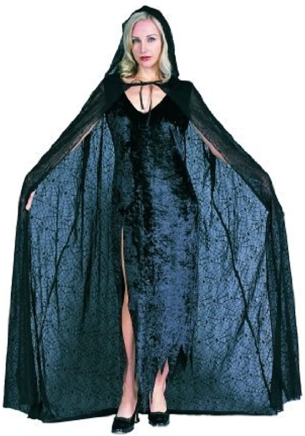RG Costumes Spiderweb 56  Hooded Cape, Standard One Size by RG Costumes