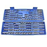 20 unids 1 Caja SDS Plus Brocas Rotativas,Martillo Eléctrico Conjunto de Taladro Agujero de Albañilería Concreto Juego de Herramientas Universal Kits de Reparación Herramientas de Ranurado