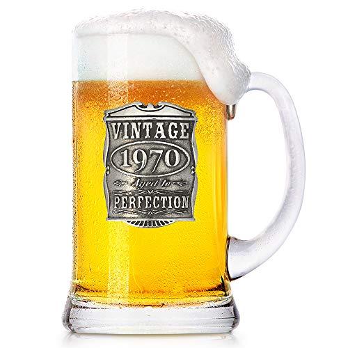 English Pewter Company 1 Pint Vintage Jahre 1970 50. Geburtstag oder Jubiläum Bierkrug Glaskrug - einzigartige Geschenkidee für Männer [VIN031]