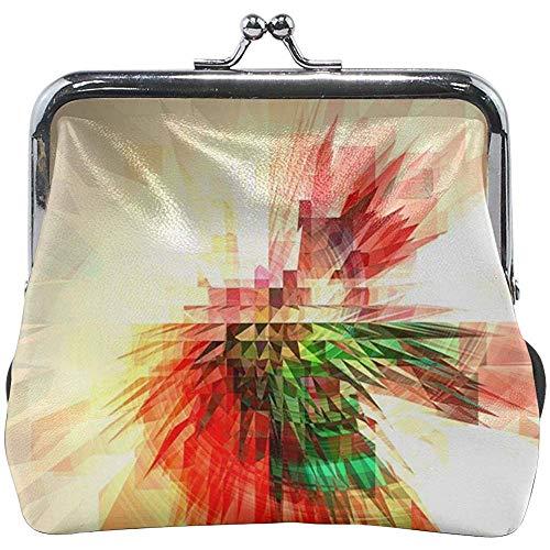 Extrudieren Sie Form-mehrfarbige geometrische lederne Blumengeldbeutel-Handtaschen-Beutel-Geldbörse für Frauen