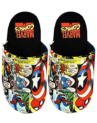 Marvel Avengers Slippers Comic Zapatos de casa de poliéster para hombre