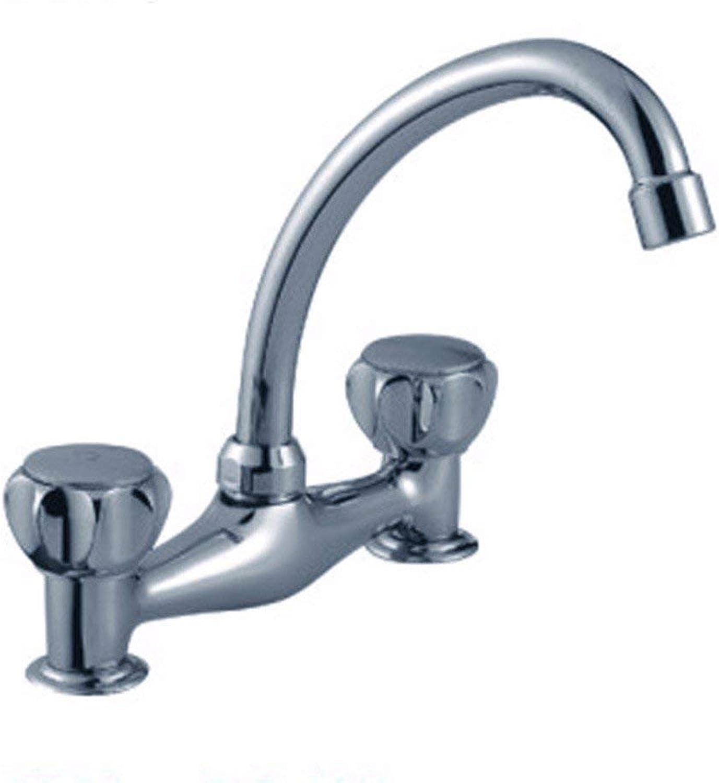 ZHAS Europische einfache Spülbecken Wasserhahn Doppelschraube Küchenausstattung Wasserhahn Spülbecken Wasserhahn