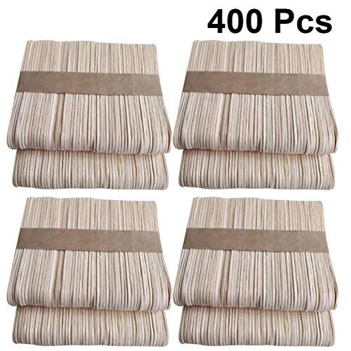 TOYANDONA 400 Stks Natuurlijke Gekleurde Houten Ambachtelijke Sticks Hout Jumbo Popsicle Sticks Houten Afwerking Tongspatels Voor Ijs Diy Ambachten Materiaal
