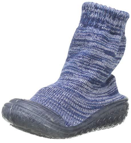 Playshoes Jungen Unisex Kinder Socke gestrickt Hohe Hausschuhe, Blau (Marine 11), 20/21 EU
