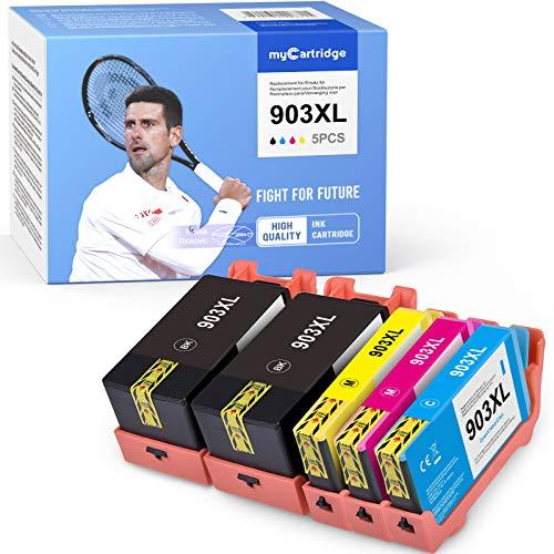 MyCartridge 5 wiederaufbereitete Druckerpatronen Ersatz für HP 903XL Drucker HP OfficeJet 6950 Pro 6960 6970
