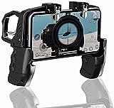 SQINAA K21 móvil regulador del Juego para PUBG/Call of Duty/Fortnite, el Objetivo gatillo de Disparo Botones L1R1 Tirador Sensible Joystick, Gamepad de 4.7 a 6.5 Pulgadas iPhone Teléfono