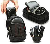 Navitech Black Digital Camera Case Bag Compatible with The Kodak EasyShare C195 / C1530 / Sport C135 / Sport C123 / C1530