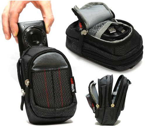 Navitech Black Digital Camera Case Bag Compatible with The Nikon COOLPIX AW120 / Nikon COOLPIX S9700 / Nikon 1 AW1 / Nikon 1 V3