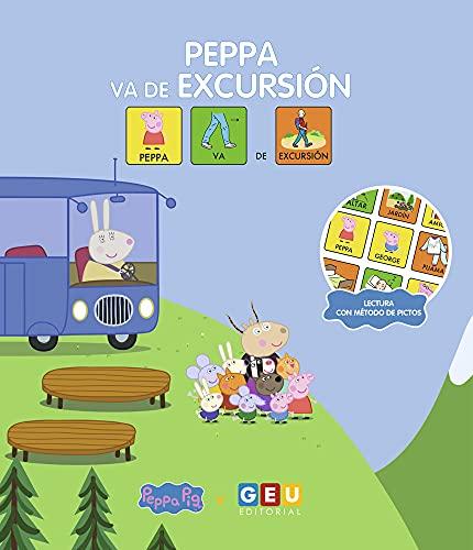 Cuento Peppa Pig: Peppa va de excursión | Aprende Valores Amistad Respeto | Amplia Vocabulario: Cuentos cortos con pictogramas niños 3 a 5 años (Niños ... años Educación Infantil y Educación Especial)