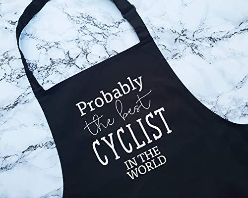 Toll2452 Probablemente el mejor ciclista en el mundo delantal de regalo de cocina para hornear barbacoa para el miembro del equipo de ciclismo de montaña, ciclismo de montaña y bicicleta BMX